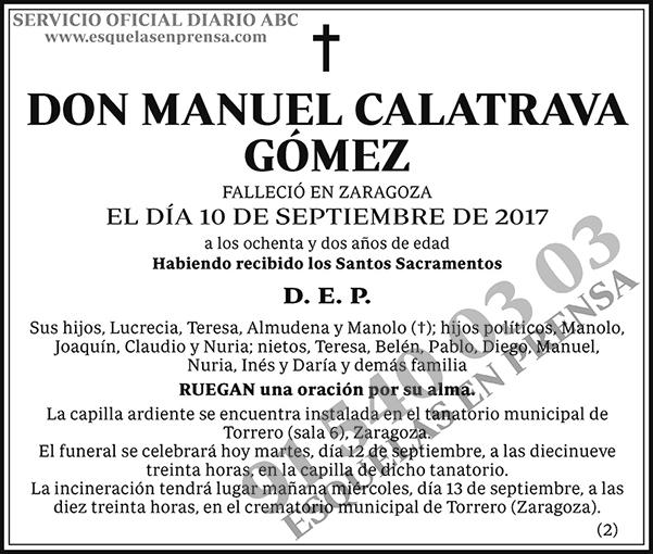 Manuel Calatrava Gómez